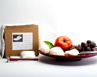 DIY Italian Cheese Making Kit - Learn how to make home made mozzarella and ricotta cheese!