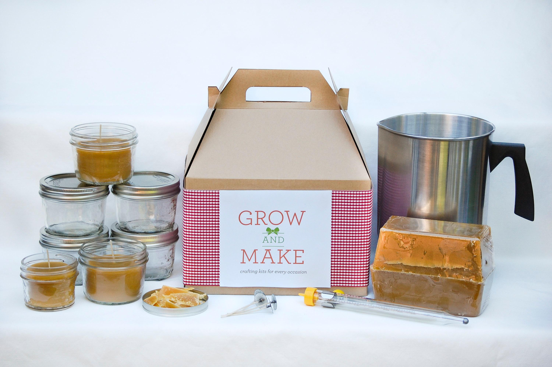 DIY Deluxe Beeswax Candle Making Kit - Make 6 Large Mason Jar Candles at  home!