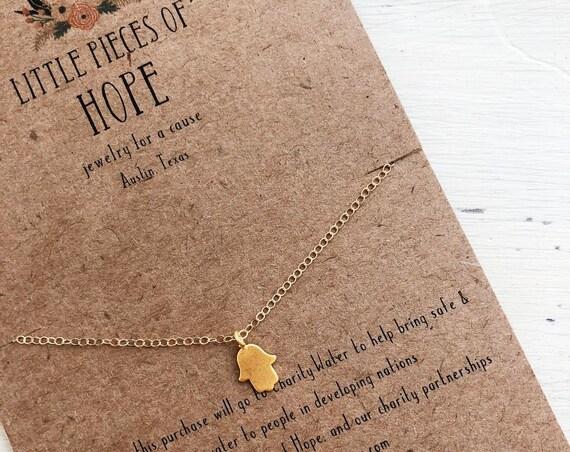Mini Hamsa Necklace