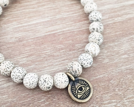 Mala Bracelet - Eye of Providence Charm