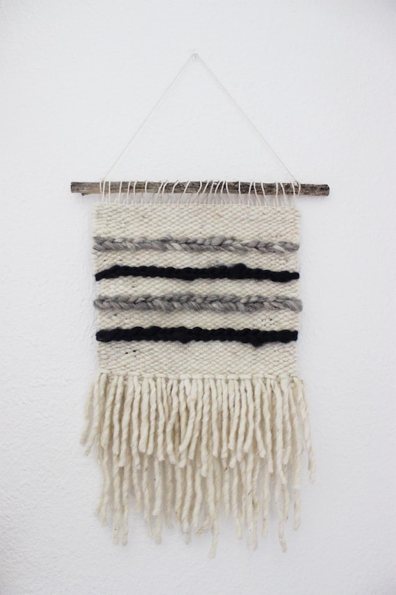 Gray & Navy Braided Wall Hanging