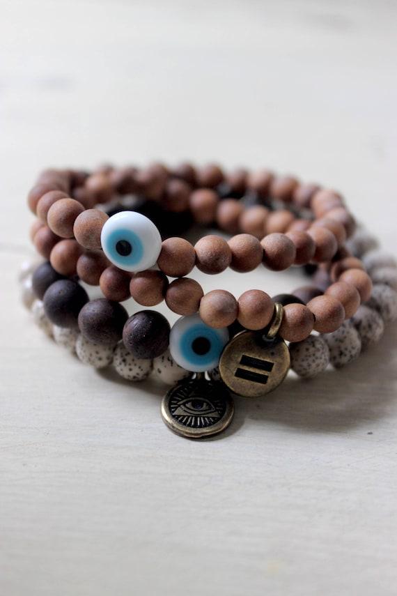 Turkish Evil Eye Mala Bracelet