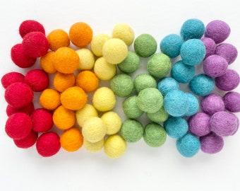 100/% Wool Handmade Felt Balls Felt Pom Poms Pompoms 50 x 1.5cm Wool Felt Balls Assorted Pastel Easter Colours