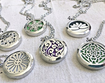 Aromatherapy Necklace, Essential Oil Necklace, Essential Oil Diffuser Necklace, Scent Locket Diffuser Natural Remedies Healing Necklace