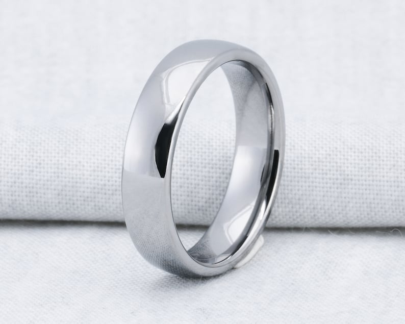 Tungsten Carbide 6mm Classic Dome Comfort Fit Wedding Band Ring