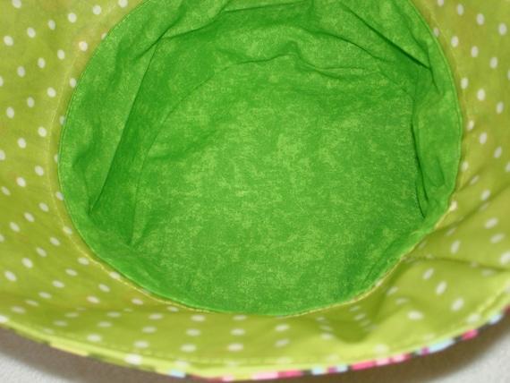 schöner Regenhut Damenhut Baumwolle   grün