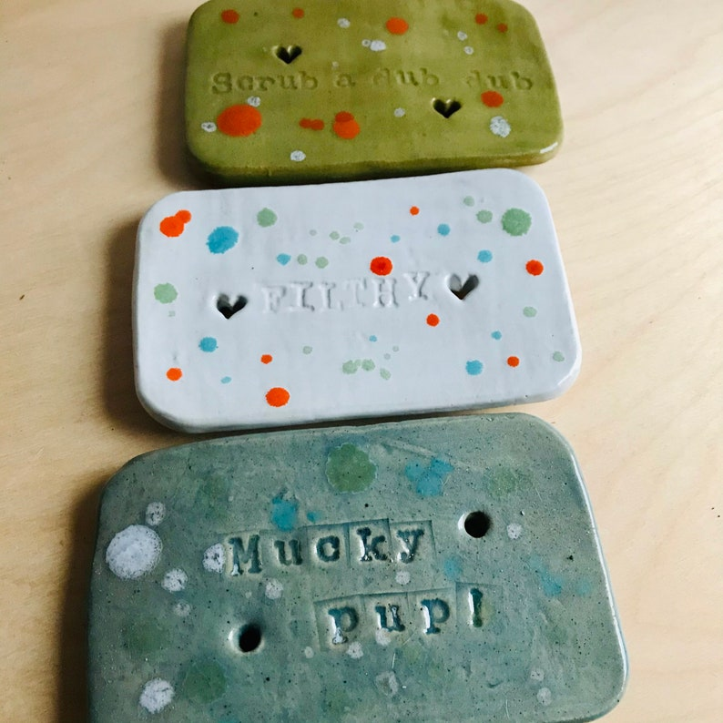 Spotty slogan Soap dish image 0