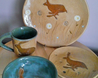 Hare place setting (made to order)