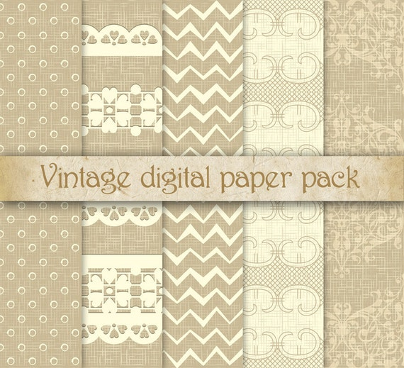 Romantic Rustic Digital Scrapbooking Paper Pack Scrapbook Etsy