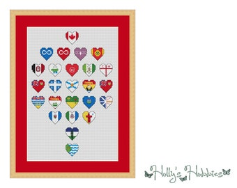 Flags of Canada Cross Stitch Chart