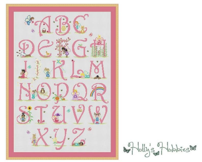 Fairy Alphabet  Cross Stitch Chart image 0