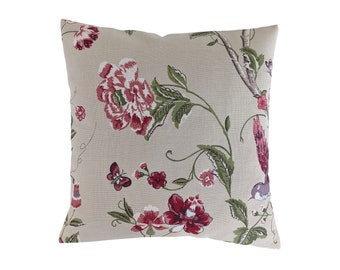 Cushion Cover in Laura Ashley Christmas Grey Stag 16