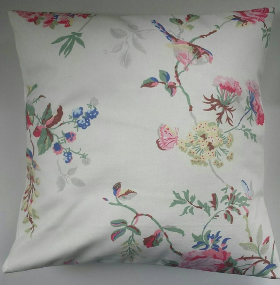 shabby chic cushion cover in cath kidston birds and roses etsy