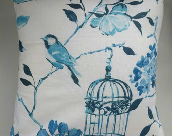 """Cushion Cover in Birdcage Print 16"""""""