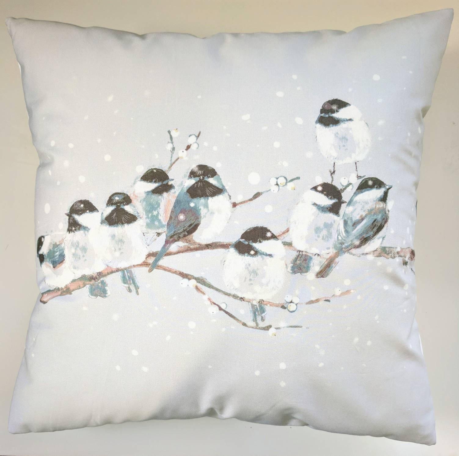 "Shabby Chic Cushion Cover in Laura Ashley Garden Bird Sateen 16/"""