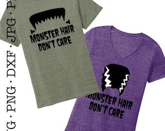 Monster Hair Don't Care Halloween SVG File