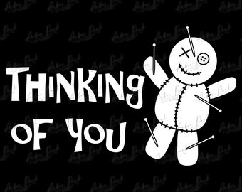 Voodoo Thinking of You Halloween SVG File