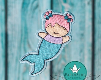 """3"""" Merbaby Iron-on Patch"""