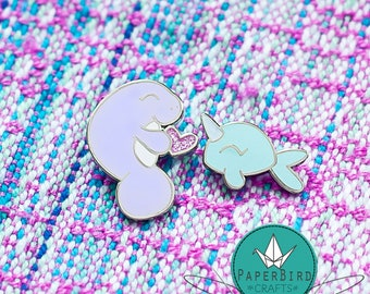 Manatee Or Narwhal Lapel Pins
