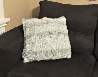 Giant Cabled Knit Pillow - Knit PATTERN PDF ONLY