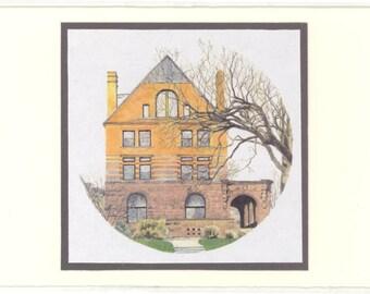251 Summit Avenue Watercolor Reproduction