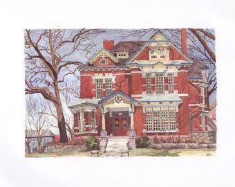 499 Summit watercolor reproduction