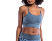 Yoga Bra - Cotton Yoga Bra - 'Sukha' Yoga Bra - Sports Bra - Yoga Wear - Dance Wear - Activewear
