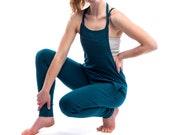 Womens Yoga Jumpsuit - Drop Crotch Overalls- Jersey Cotton Yoga Pants Yoga Clothes Romper
