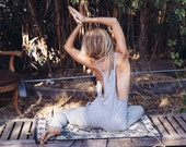 Jumpsuit - Womens Jumpsuit - Yoga Jumpsuit Overalls - Jersey Cotton Yoga Pants Yoga Clothes Overalls Romper