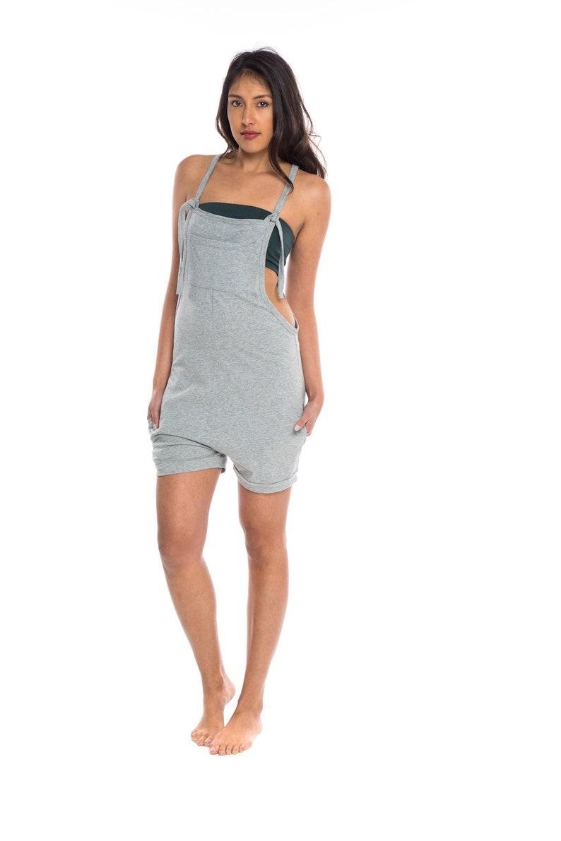 df331131be Womens Mini Romper Jumpsuit Drop Crotch Playsuit Jersey | Etsy
