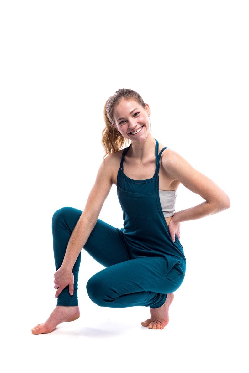 bd3ac73762 Womens Yoga Jumpsuit Drop Crotch Overalls Jersey Cotton | Etsy
