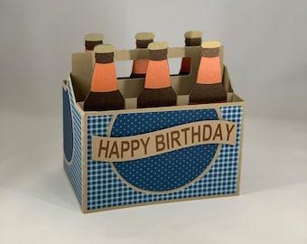 3D Six Pack Birthday Card Box