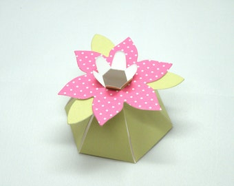 12 Flower Favor Boxes