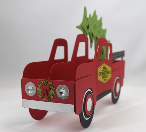 3d Christmas Tree Truck Card Pop Up Box Card By A Paper Paradise