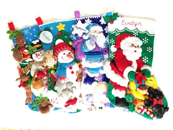 Black Bears in Woods Christmas Holiday Stocking