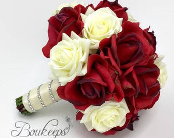 Red bridal bouquet etsy more colors mightylinksfo