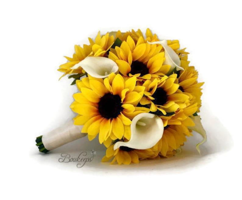 Prächtig Wählen Sie Calla Lily & Bandfarbe Sonnenblumen Blumenstrauß | Etsy &PK_22