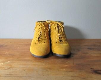 Vintage Yellow Suede Boots - Avant Garde //AC43