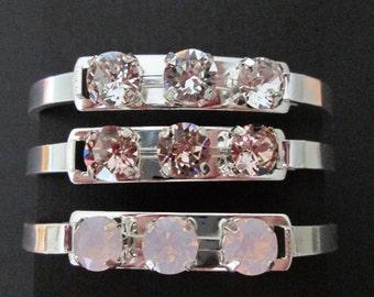Swarovski Crystal Bridesmaid Bracelet/Crystal Bracelet/Bridesmaid Jewelry/Bridesmaid Gift/Chain Link Bracelet/Crystal Statement Bracelet