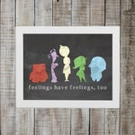 Inside Out Inspired Print - 'feelings have feelings too'