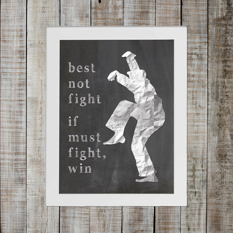 Karate Kid Pop Culture Print  'best not fight if must image 0