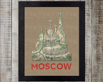 Moscow, Russia World Landmark Print - St. Basil's Cathedral