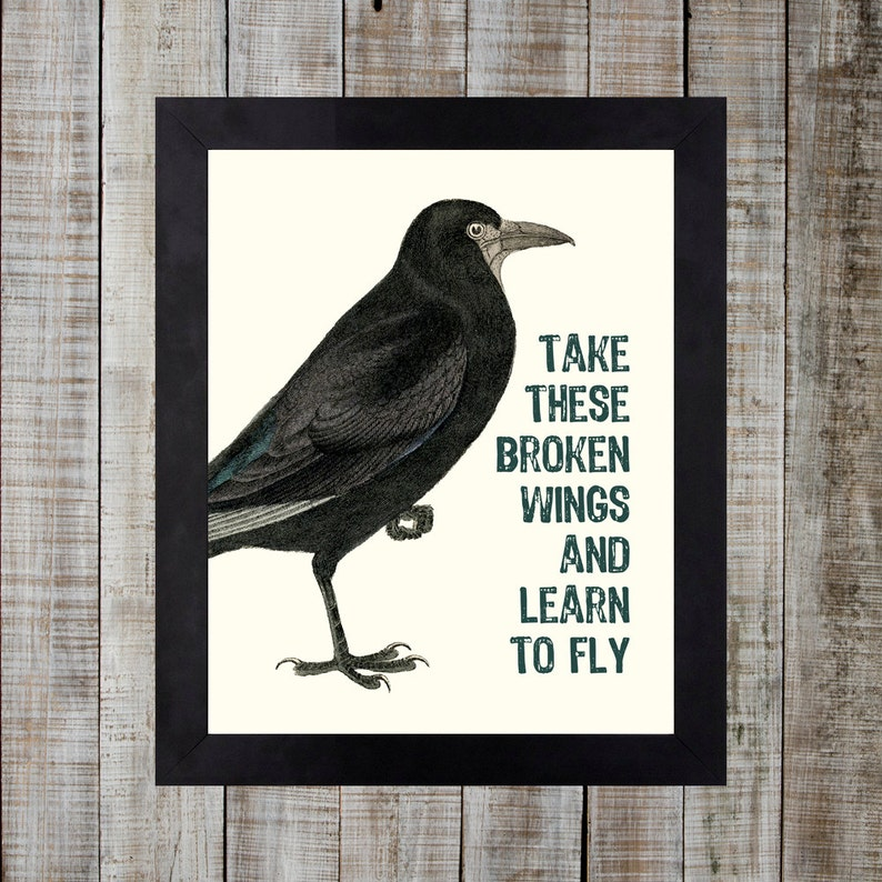 Vintage Styled Beatles Lyric Print  Blackbird 'take these image 0
