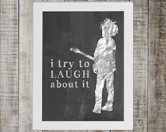 The Cure Boys Don't Cry Pop Culture Print - 'i try to laugh about it'