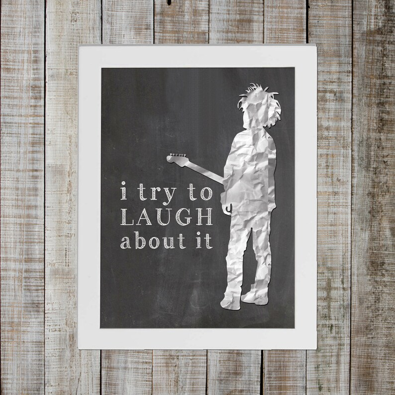 The Cure Boys Don't Cry Pop Culture Print  'i try to image 0