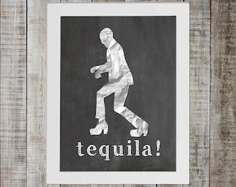 Peewee Herman Show, Peewee's Big Adventure Pop Culture Print - 'tequila'