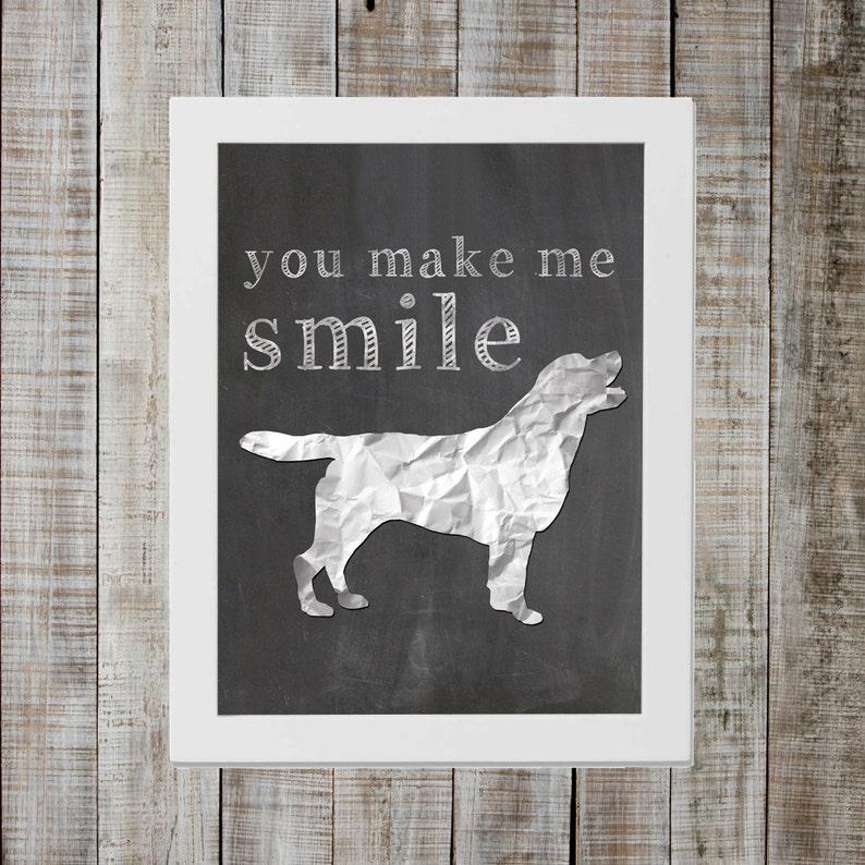 Labrador Retriever 'you make me smile' Chalkboard image 0