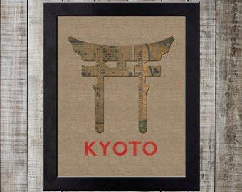 Kyoto Japan World Landmark Print - Shinto Shrine Torii