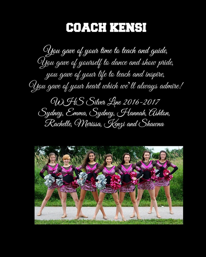 Dance Coach Tem Personalized Thank you Gift photo team player image 0