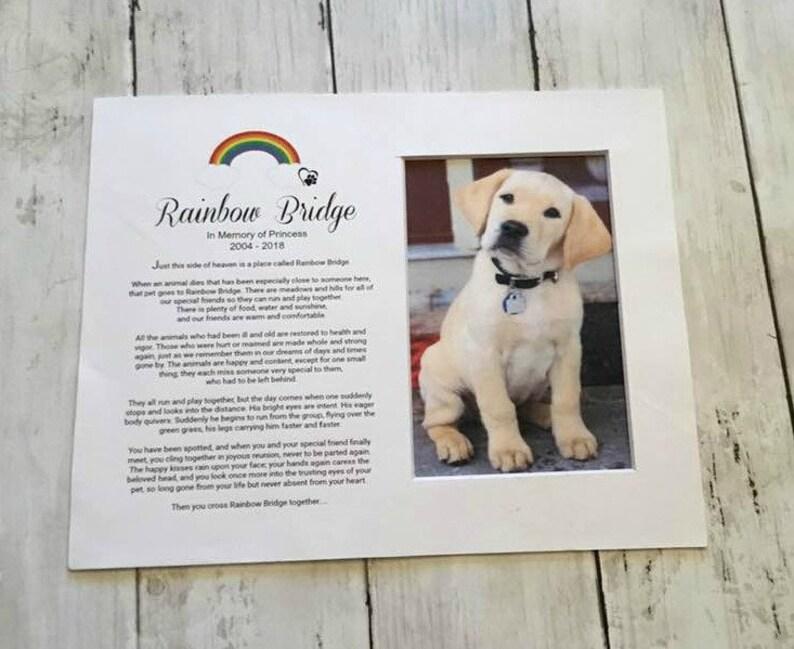 Rainbow Bridge  Pet Memorial Personalized  Tribute Poem image 0